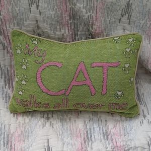 😻🐾😻My Cat Walks All Over Me Small Accent Pillow